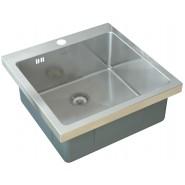 Мойка для кухни ZorG Inox, 510х510 мм, HR-5151HR, , 12 200 руб., HR-5151HR, Zorg, Мойки из нержавеющей стали