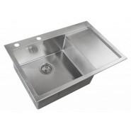 Мойка для кухни ZorG Inox RX, 780х510 мм, RX-7851-L, , 22 900 руб., RX-7851-L, Zorg, Мойки из нержавеющей стали