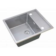 Мойка для кухни Luxe ZorG Steel Hammer, 600х500 мм, SH R 6050, , 14 300 руб., SH R 6050, Zorg, Мойки из нержавеющей стали