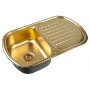 Мойка для кухни ZorG PVD, 770х490 мм, SZR 7749 BRONZE, , 10 300 руб., SZR 7749 BRONZE, Zorg, Мойки из нержавеющей стали