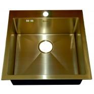 Мойка для кухни ZorG PVD, 510х510 мм, SZR-51 BRONZE, , 26 900 руб., SZR-51 BRONZE, Zorg, Мойки из нержавеющей стали