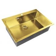 Мойка для кухни ZorG PVD, 750х510 мм, SZR-7551 BRONZE, , 29 750 руб., SZR-7551 BRONZE, Zorg, Мойки из нержавеющей стали