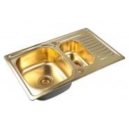 Мойка для кухни ZorG PVD, 780х500 мм, SZR-78-2-50 BRONZE, , 18 350 руб., SZR-78-2-50 BRONZE, Zorg, Мойки из нержавеющей стали
