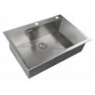 Мойка для кухни ZorG Inox X, 750х510 мм, X-7551, , 20 600 руб., X-7551, Zorg, Мойки из нержавеющей стали