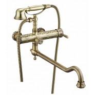 Смеситель для ванны и душа ZorG Antic, 350 мм, A 101WDN-BR