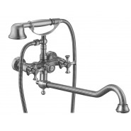 Смеситель для ванны и душа ZorG Antic, 327 мм, A 7001WDN-SL