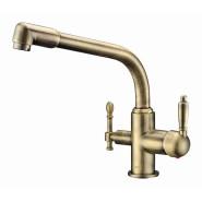 Смеситель для кухни под фильтр ZorG Sanitary, 222 мм, ZR 319 YF-33 BR, , 9 650 руб., ZR 319 YF-33 BR, Zorg, Смесители для кухни