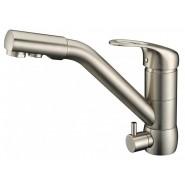 Смеситель для кухни под фильтр ZorG Sanitary, 225 мм, ZR 400 KF-12 SATIN, , 9 750 руб., ZR 400 KF-12 SATIN, Zorg, Смесители для кухни