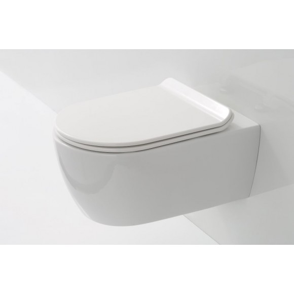 Унитаз подвесной SSWW, ультратонкое сиденье, микролифт, безободковый, CT2039V