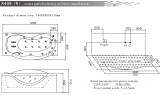 Ванна акриловая с гидромассажем SSWW, 182*77 см, A408 R/L